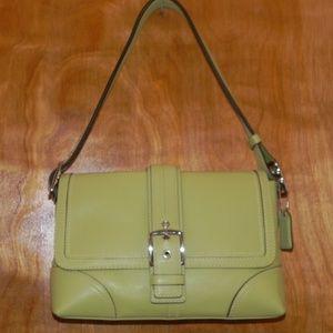 Pear Green Classic Coach Satchel Handbag
